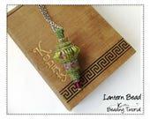 Peyote Stitch Pendant Beading Pattern and Tutorial Beaded Ornament Beadweaving Instructions DIY Seed Bead Jewelry Download Patterns LANTERN