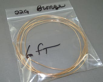 Destash Solid Raw Bronze Wire, 6 Feet 22 Gauge Solid Aged Brass Wire