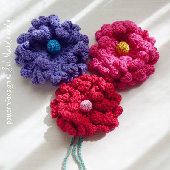 PDF Flower Crochet Pattern - Peony easy, beginner  crochet pattern - Instant DOWNLOAD