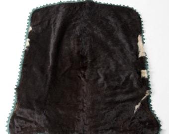 antique carriage or sleigh blanket, fur hide blanket Dubuque Tanning & Robe Co. circa 1910