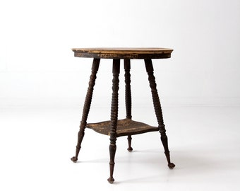 antique claw foot table, Victorian side table