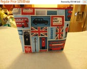 Discontinued fabric-London Blocks Small zipper Cosmetic/accessory Pouch