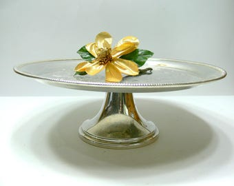 Vintage Silver Plate Cake Stand on Pedestal Base - William Rogers 842 - Wedding Anniversary Bridal Shower Afternoon Tea