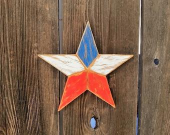 "8"" Rustic wood star #532"