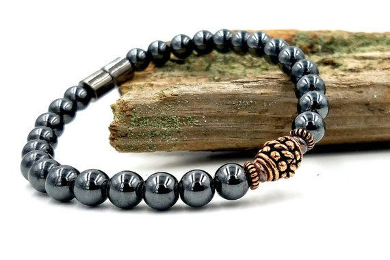 Practical magnetic bracelet therapy strength pure copper for How does magnetic jewelry work