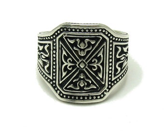 Sterling silver men ring solid 925 pendant
