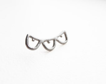 Pin - handmade sterling silver lace LP01