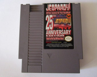 JEOPARDY! 25th Anniversary edition-- Vintage Nintendo Game (NES) Works