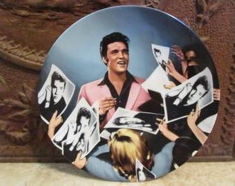 Vintage 'Elvis Presley', 'Looking at a Legend' porcelain collector plate by Delphi!