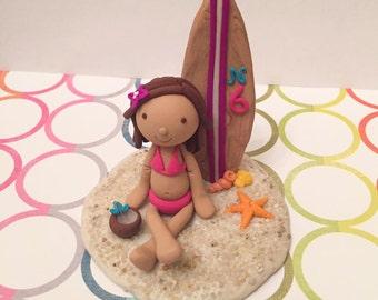 Custom Made - Clay Surfer Cake Topper