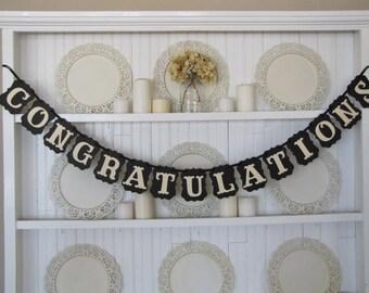 Custom order for Julianne-CONGRATULATIONS  CONNOR Banner, Wedding Sign, Anniversary Sign, Graduation Sign, Retirement,