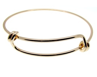 NEW 1 Expandable Gold Wire Bangle Bracelet   Gold Wire Bangle   Stacking Charm Bracelet   Adjustable Bangle -- 34810-3