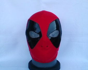 Deadpool Wrestling Mask Mardi Gras day of the dead halloween party masks Horror movie masquerade mask Luchador Mask marvel superhero mask
