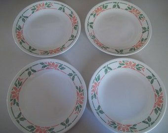 4 Corelle Island Breeze Bread Plates, Made in the USA
