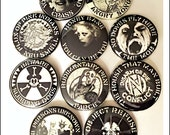 "Crass Records - Large 2 1/4"" Pin Back Buttons"