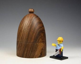 English Walnut wooden box, woodturning, gift, wood,