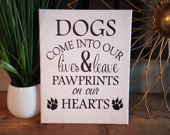 """14 x 20 size """"DOG"""" quote canvas"""