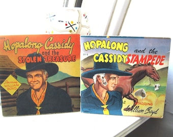 Hopalong Cassidy Mini Comic Books/Hopalong Cassidy and the Stolen Treasure/Hoplaong Cassidy and the Stampede/Doubleday & Company