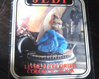 1983 Return of the Jedi Coloring Book by Kenner UNUSED