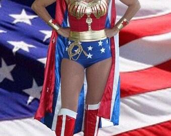 Wonder Woman Costume Lynda Carter Replica Comic Con Custom Made