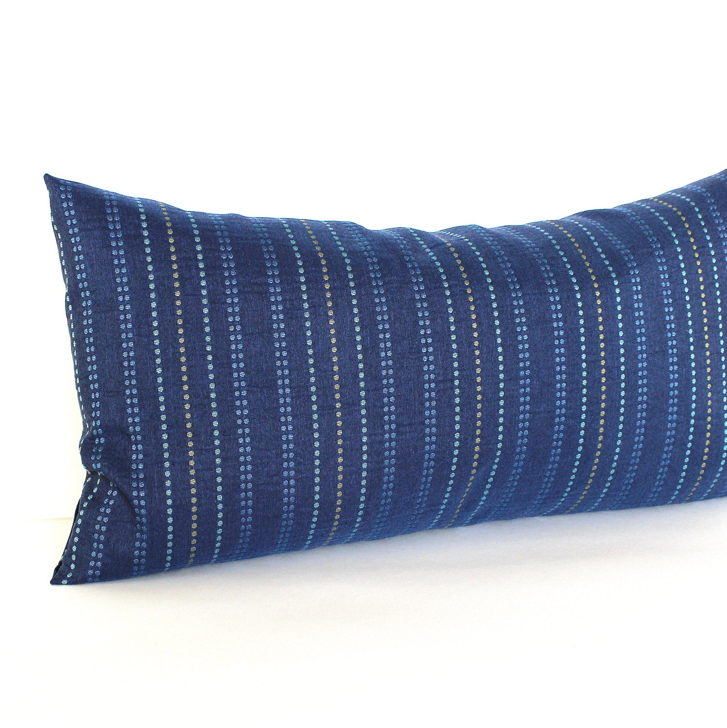 Modern Pillow Covers Etsy : Lumbar Pillow Cover Blue Pillow Modern Stripe Upholstery