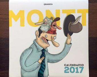 Calendario de pared 2017 MONTT // wall calendar 2017