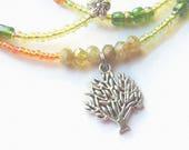 Belly Chain, Tree of Life Green Garnet Waist Beads, African Waist Beads; Green Belly Chain; Garnet Waist Chain