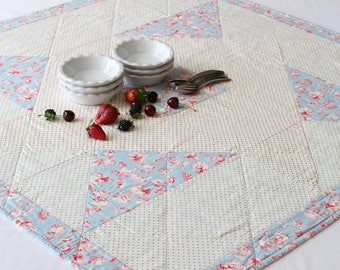 Red, White, Blue Quilted Table Topper