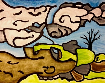 REFLECTION  Art Print on Cardstock