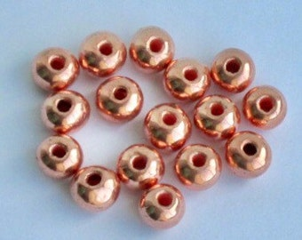 10 Copper round 10mm beads