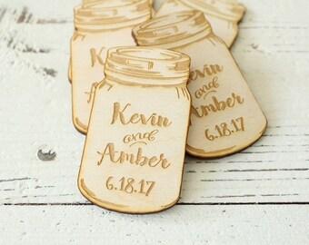 Mason Jar Wedding Favors Engraved Mason Jars