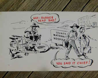 1950's 60's Original Magazine or Greeting Cards Risque Cartoon That reads You Said It Chief