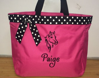 Personalized Horse Stallion Tote Bag Diaper Bag