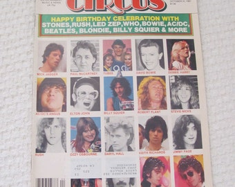 Vintage Circus Magazine October 1981 - Robert Plant Led Zeppelin Centerfold