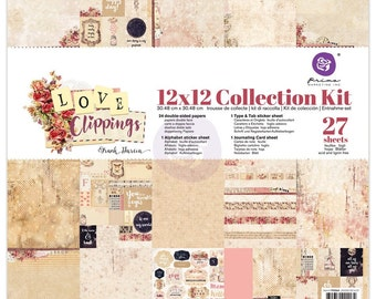 PRIMA's 2017 Love Clippings Collection Kit 12x12