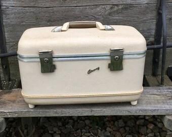 Vintage Airway Travel Suitcase Cosmetic Train Luggage