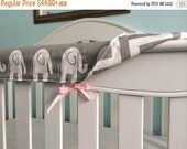 VDAY SALE 10% ends 2/15 REVERSIBLE Crib Teething Rail Padded Cover -Made in fabric of your choice