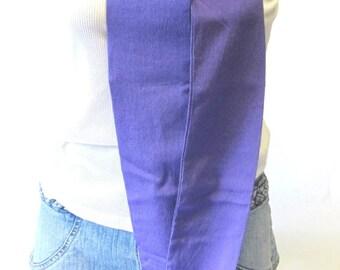 Extra Long Purple Sash Scarf