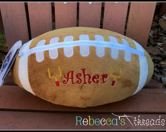 Monogrammed Football Pillow ~ Monogrammed Baseball Pillow ~ Monogrammed Softball Pillow ~ Monogrammed Softball Pillow ~ Personalized Sports