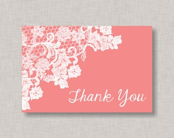 Thank You Card, Lace Thank You Card, Baby Shower Thank You Card, Bridal Shower Thank You Card, Shabby Chic Thank You Card, Lace, Doiley