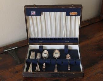 23 Piece EPNS Sheffield England Silver Plated Flatware Vintage