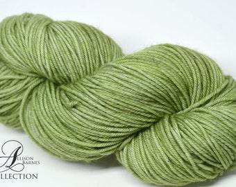 Hand Dyed Superwash Merino and Nylon - Fingering sock weight yarn - Green Tea
