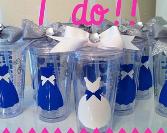 Personalized Wedding Tumblers - Bridal Party - Bachelorette Party Favors - Bachelorette - Bride To Be