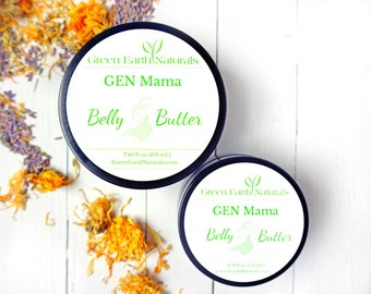 Belly Butter - Organic Pregnancy Moisturizer - 3.79 fluid ounce glass jar - Stretch mark cream - pregnancy gift - whipped shea