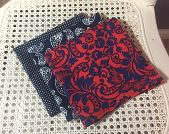 Pocket Square - blues, paisley, floral, dots, singles, individual, custom and ready to ship