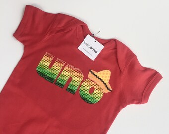 Mexican Fiesta First Birthday UNO bodysuit