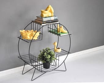 Mid-Century Circular Wire Plant Stand