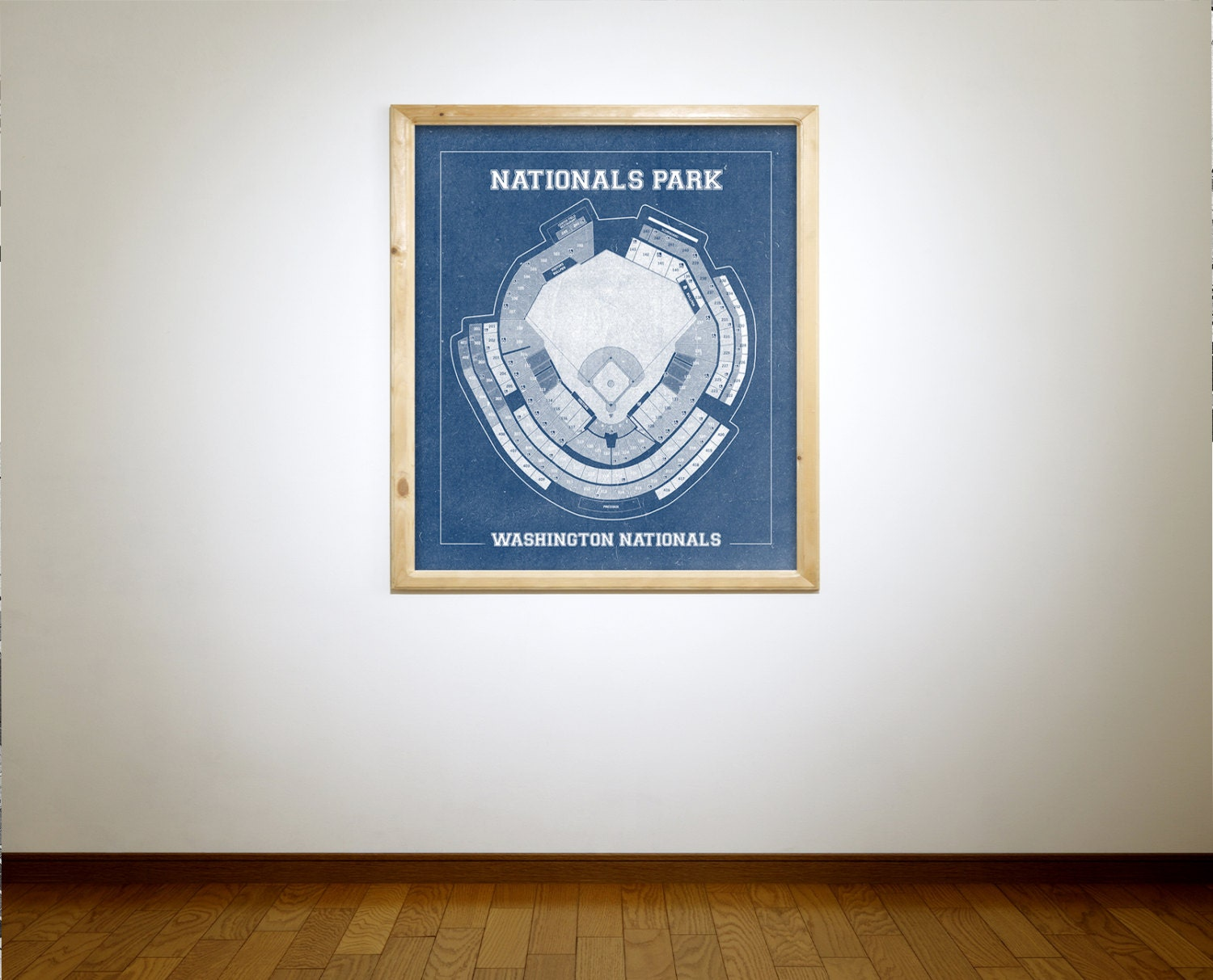 Vintage style print of nationals park on photo paper for 12x15 calculator