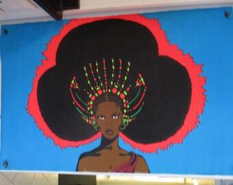 """SALE Original """"Afro Queen"""" Vintage Poster"""