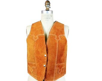 1970s Suede and Shearling Vest